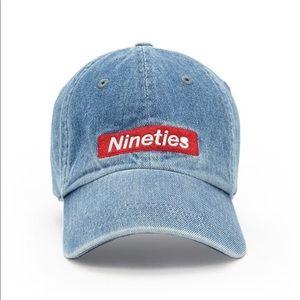 """""""Nineties"""" Denim Dad Snap Hat Forever 21"""